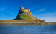 16th Century castle of Holy Island, Lindisfarne, Northumberland, England .<br /> <br /> Visit our ENGLAND PHOTO COLLECTIONS for more photos to download or buy as wall art prints https://funkystock.photoshelter.com/gallery-collection/Pictures-Images-of-England-Photos-of-English-Historic-Landmark-Sites/C0000SnAAiGINuEQ