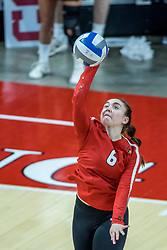 BLOOMINGTON, IL - October 23: Carley Nicholson  during a college Women's volleyball match between the ISU Redbirds and the Drake Buldogs on October 23 2021 at Illinois State University in Normal, IL. (Photo by Alan Look)