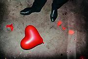 Heart shaped balloon on the dance floor, Ghent, Belgium, 16.04.2016