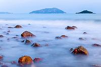Tong Kong beach, Lantau Island, Hong Kong, China. 塘福海滩,大屿山,中国香港。