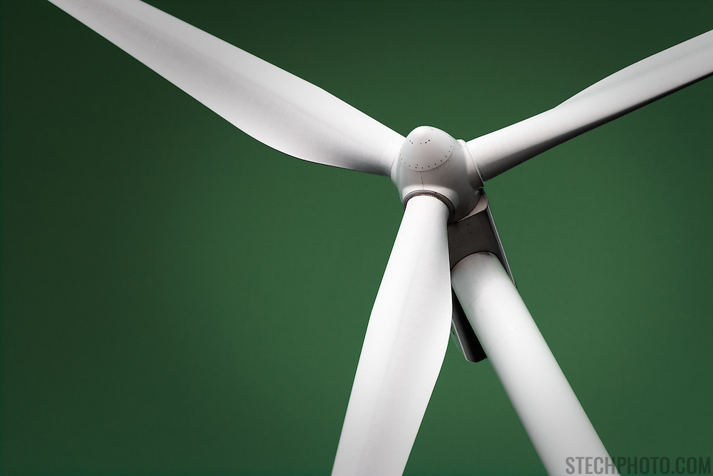 An abstract of a wind generator.<br /> <br /> + ART PRINTS +<br /> To order prints or cards of this image, visit:<br /> http://greg-stechishin.artistwebsites.com/featured/generating-green-greg-stechishin.html