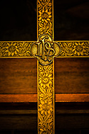 The altar cross at Gethsemane Lutheran Church on Tuesday, July 28, 2020, in St. Louis.  LCMS Communications/Erik M. Lunsford