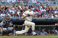 Joe Mauer #7 of the Minnesota Twins bats against the Chicago White Sox on June 19, 2013 at Target Field in Minneapolis, Minnesota.  The Twins defeated the White Sox 7 to 4.  Photo: Ben Krause