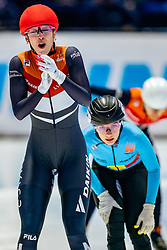 Suzanne Schulting of Netherlands World champion on 1000 meter final during ISU World Short Track speed skating Championships on March 07, 2021 in Dordrecht
