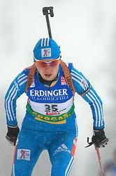 Elena Khrustaleva (KAZ) at Women 15 km Individual at E.ON Ruhrgas IBU World Cup Biathlon in Hochfilzen (replacement Pokljuka), on December 18, 2008, in Hochfilzen, Austria. (Photo by Vid Ponikvar / Sportida)