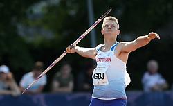 Scott Staples in the javelin during the Loughborough International Athletics Meeting at the Paula Radcliffe Stadium, Loughborough.
