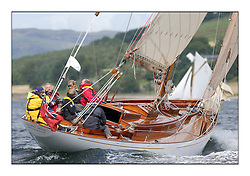 Day three of the Fife Regatta, Cruise up the Kyles of Bute to Tighnabruaich<br /> <br /> Solway Maid, Roger Sandiford, GBR, Bermudan Cutter, Wm Fife 3rd, 1940<br /> <br /> * The William Fife designed Yachts return to the birthplace of these historic yachts, the Scotland's pre-eminent yacht designer and builder for the 4th Fife Regatta on the Clyde 28th June–5th July 2013<br /> <br /> More information is available on the website: www.fiferegatta.com