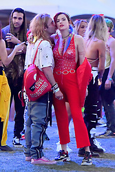 EXCLUSIVE: Bella Thorne wears all red as she cuddles up with her boyfriend at Coachella. The happy couple, joined by friends and Bella's sister, were seen dancing and having a great time In the VIP section before going to watch Beyonce perform. 14 Apr 2018 Pictured: Bella Thorne and Mod Sun. Photo credit: Snorlax / MEGA TheMegaAgency.com +1 888 505 6342