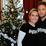NLD/Amsterdam/20111208- Sky Radio Christmas tree for Charity, Charly Luske en partner Tanja Jess