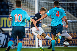 Falkirk's Jay Fulton scoring their second goal.<br /> Falkirk 2 v 1 Dunfermline, Scottish League Cup, 27/8/2013, at The Falkirk Stadium.<br /> ©Michael Schofield.