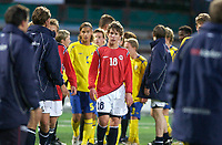 Fotball<br /> Landskamp G15<br /> Alfheim Stadion<br /> 12.09.2006<br /> Norge v Sverige 1-1<br /> Foto: Kaja Baardsen, Digitalsport<br /> <br /> Lars Gunnar Johnsen - Senja / Norge