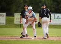 Muskrats v Keene Swampbats July 29, 2014 at Robbie Mills Memorial Field in Laconia, NH.  Karen Bobotas for the Laconia Daily Sun