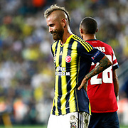 Fenerbahce's Raul Jose Trindade Meireles during the UEFA Champions League Play-Offs First leg soccer match Fenerbahce between Arsenal at Sukru Saracaoglu stadium in Istanbul Turkey on Wednesday 21 August 2013. Photo by TURKPIX