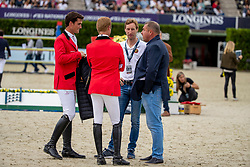 Philippaerts Olivier, Devos Pieter, Bruynseels Niels, Philippaerts Ludo, BEL<br /> Longines FEI Jumping Nations Cup Final<br /> Challenge Cup - Barcelona 2019<br /> © Dirk Caremans<br />  06/10/2019
