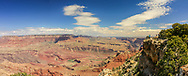 Grand Canyon South Rim panorama, taken May 10, 2016, one of several vistas off Arizona 64 East Entrance highway near the Watchtower.