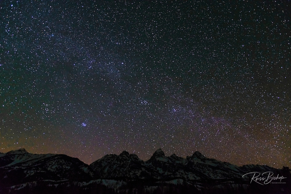 The Milky Way over the Tetons, Grand Teton National Park, Wyoming
