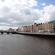 The River Liffey which flows through the centre of Dublin, Ireland. Photo Tim Clayton