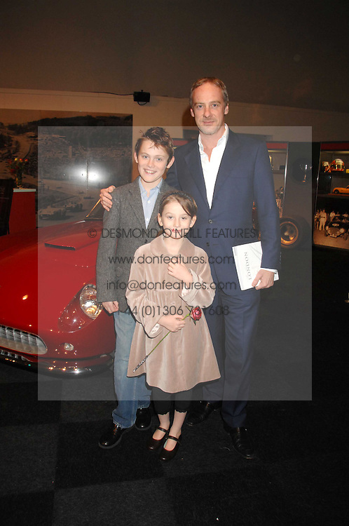 ANTON BILTON and his children CASSIAN and LILY at a preview of a forthcoming sale of cars from the Bernie Ecclestone Car Collection held at Battersea Evolution, Battersea Park, London SW11 on 30th October 2007.<br /><br />NON EXCLUSIVE - WORLD RIGHTS