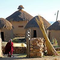 South America, Bolivia, Huatajata. Andean Eco-Village of Inca Utama on Lake Titicaca.