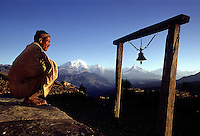 Nepal, view towards the Himalayan range with Annapurna and Dhaulagiri. 1969. Photographed by Terry Fincher