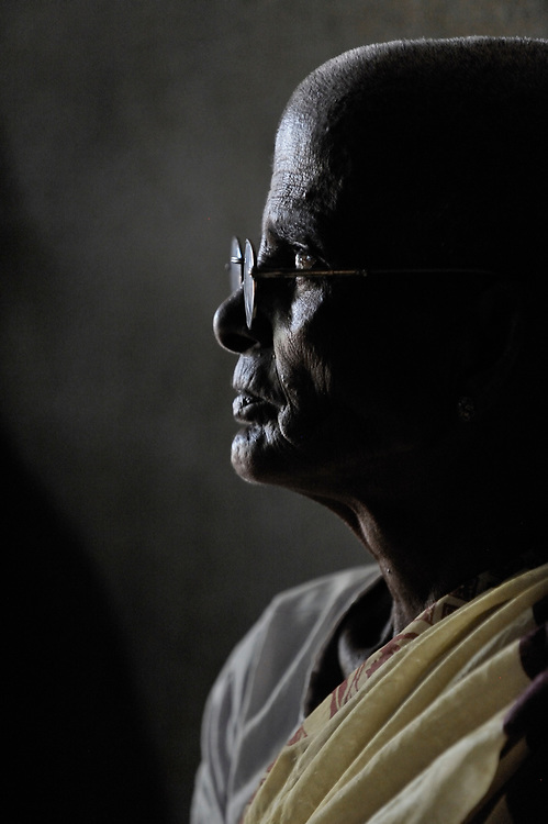 A resident of a home for the aged in the village of Indra Nagar in the southern India state of Tamil Nadu.