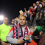 Landon Donovan, USA, leaves the field after his farewell match during the USA Vs Ecuador International match at Rentschler Field, Hartford, Connecticut. USA. 10th October 2014. Photo Tim Clayton