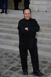 Azzedine Alaia Died At 77 - FILES - Azzedine Alaia attending Senegalese sculptor Ousmane Sow's induction ceremony at the Academie des Beaux-Arts in Paris, France on December 11, 2013. Photo by Jerome Domine/ABACAPRESS.COM