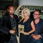 NLD/Amsterdam/20120917- Boekpresentatie Liefdespanter, Marcel Langedijk, Bobbie Eden en Jan Heemskerk