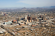 Aerial of downtown Phoenix, Arizona.