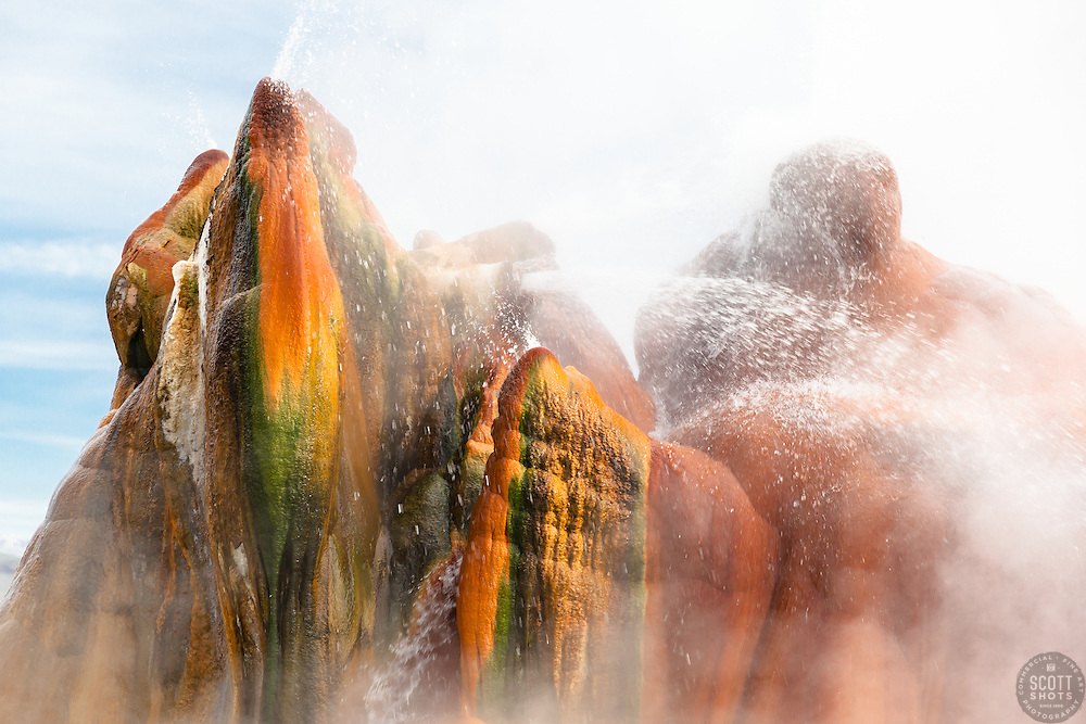 """""""Fly Geyser 2"""" - Photograph of the famous man made Fly Geyser in Nevada."""