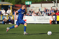 AFC Wimbledon midfielder Dean Parrett (18) dribbling during the EFL Sky Bet League 1 match between AFC Wimbledon and Bury at the Cherry Red Records Stadium, Kingston, England on 5 May 2018. Picture by Matthew Redman.