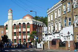 General view of Finsbury Park Mosque in north London, near where one man has died, eight people taken to hospital and a person arrested after a van struck pedestrians. Picture date: Monday June 19th, 2017. Photo credit should read: Matt Crossick/ EMPICS Entertainment.