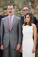 071018 Spanish Royals attends audiences at Zarzuela Palace