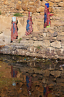Yemen, région des Hauts Plateaux, Hababa, la Grande Citerne. // Yemen, central mountains, ancient town of Hababa, the cistern.