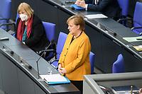 24 MAR 2021, BERLIN/GERMANY:<br /> Angela Merkel, CDU, Bundeskanzlerin, waehrend der Regierungsbefragung durch den Bundestag zur Bekaempfung der Corvid-19 Pandemie, Plenarsaal, Reichstagsgebaeude, Deutscher Bundestag<br /> IMAGE: 20210324-01-039<br /> KEYWORDS: Corona