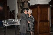 ROSE ENGLISH; JOAN JONAS, Whitechapel Gallery Art Icon Gala, supported by the Swarovski Foundation, Honoring the lifetime achievement of Joan Jonas. Christ Church Spitafields. London.
