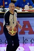 DESCRIZIONE : Pistoia Lega A 2014-2015 Giorgio Tesi Group Pistoia Banco di Sardegna Sassari<br /> GIOCATORE : Luigi Lamonica Arbitro<br /> CATEGORIA : Pregame Arbitro<br /> SQUADRA : Arbitro<br /> EVENTO : Campionato Lega A 2014-2015<br /> GARA : Giorgio Tesi Group Pistoia Banco di Sardegna Sassari<br /> DATA : 20/10/2014<br /> SPORT : Pallacanestro<br /> AUTORE : Agenzia Ciamillo-Castoria/GiulioCiamillo<br /> GALLERIA : Lega Basket A 2014-2015<br /> FOTONOTIZIA : Pistoia Lega A 2014-2015 Giorgio Tesi Group Pistoia Banco di Sardegna Sassari<br /> PREDEFINITA :
