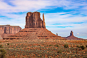 "One of the ""Mittens"" near the entrance to Monument Valley on the Arizona-Utah border."