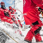 Leg 3, Cape Town to Melbourne, day 03, Tamara Echegoyen on board MAPFRE. Photo by Jen Edney/Volvo Ocean Race. 14 December, 2017.