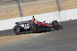 September 14, 2018 - Sonoma, CA, U.S. - SONOMA, CA - SEPTEMBER 14: Carlos Munoz hits the rumble strips during the afternoon Verizon IndyCar Series practice for the Grand Prix of Sonoma on September 14, 2018, at Sonoma Raceway in Sonoma, CA. (Photo by Larry Placido/Icon Sportswire) (Credit Image: © Larry Placido/Icon SMI via ZUMA Press)