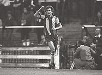 Fotball <br /> 1980<br /> Fulham v West Bromwich Albion<br /> Ligacup<br /> Bryan Robson (WBA) celebrates his goal<br /> DIGITALSPORT / NORWAY ONLY