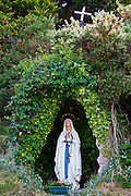 Grotto with statue of the Virgin Mary and The Immaculate Conception at Ballinspittle near Kinsale, County Cork, Ireland