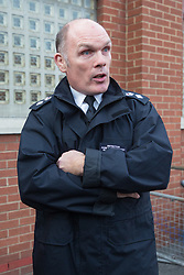 Detective Chief Superintendent Richard Tucker addresses the media at Forest Gate Police Station following the murder of 14 Year-old Jayden Moodie in Leyton. Forest Gate, London, January 09 2019.