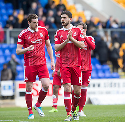 Aberdeen's Anthony O'Connor at the end. St Johnstone 1 v 2 Aberdeen. SPFL Ladbrokes Premiership game played 15/4/2017 at St Johnstone's home ground, McDiarmid Park.