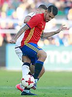 Spain's Dani Ceballos (r) and Italy's Barella during international sub 21 friendly match. September 1,2017.(ALTERPHOTOS/Acero)