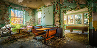 An abandoned pool hall and cafe inside an old hospital in upstate New York.