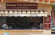 Wine shop. on the beach, Domaine Vial Magnieres. Banyuls sur Mer, Roussillon, France