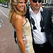 NLD/Amsterdam/20100721 - Huwelijk van Kim Feesntra en DJ Michael Mendoza, Kim Kötter en partner Eddy