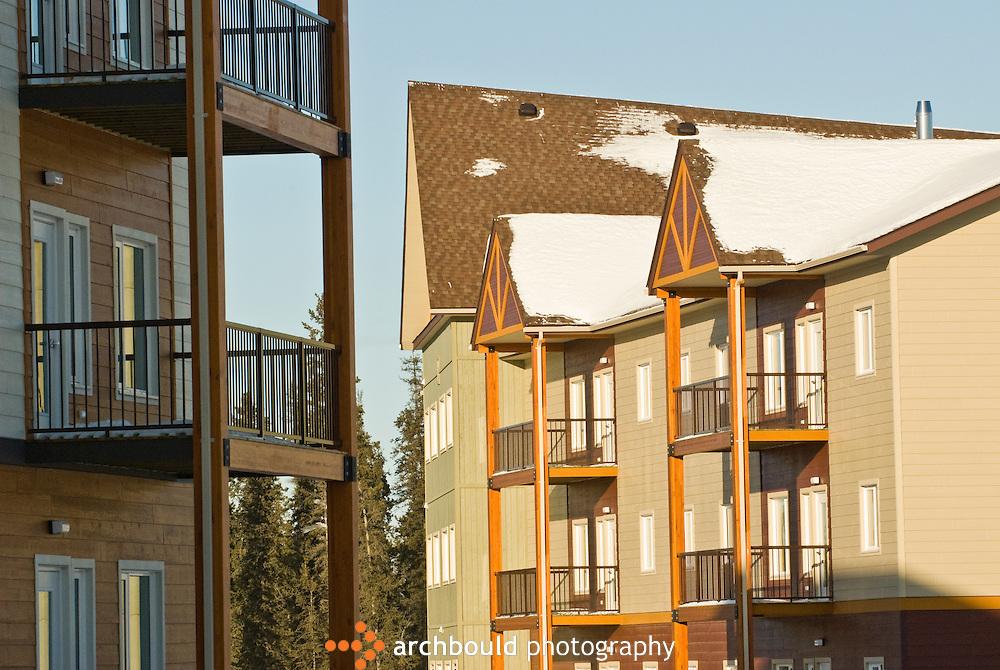 Housing at Yukon College in Whitehorse, Yukon.