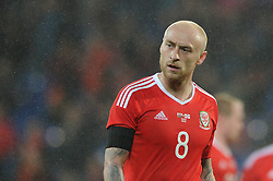 David Cotterill of Wales - Mandatory by-line: Dougie Allward/JMP - Mobile: 07966 386802 - 24/03/2016 - FOOTBALL - Cardiff City Stadium - Cardiff, Wales - Wales v Northern Ireland - Vauxhall International Friendly